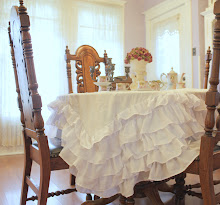 My Ruffled Tablecloth...