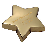 Engraved Brass Star