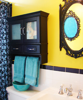 Colourful bathrooms via Apartment Therapy