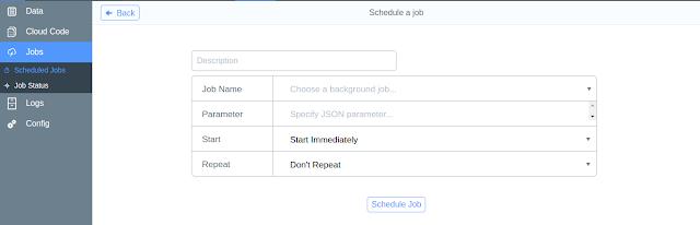 Background jobs in parse