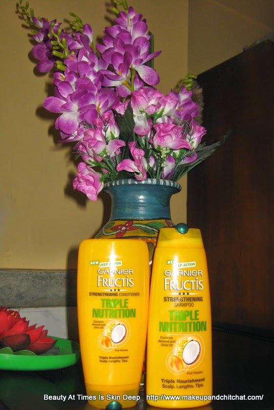 Garnier Fructis Triple Nutrition shampoo| Garnier Fructis Triple Nutrition Conditioner| Garnier Fructis Triple Nutrition photo review and price