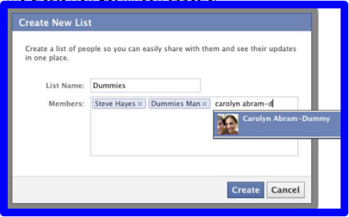How To Make Friends List On Facebook