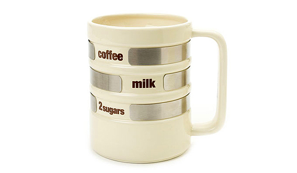 Diseño de taza con cerámica y aluminio