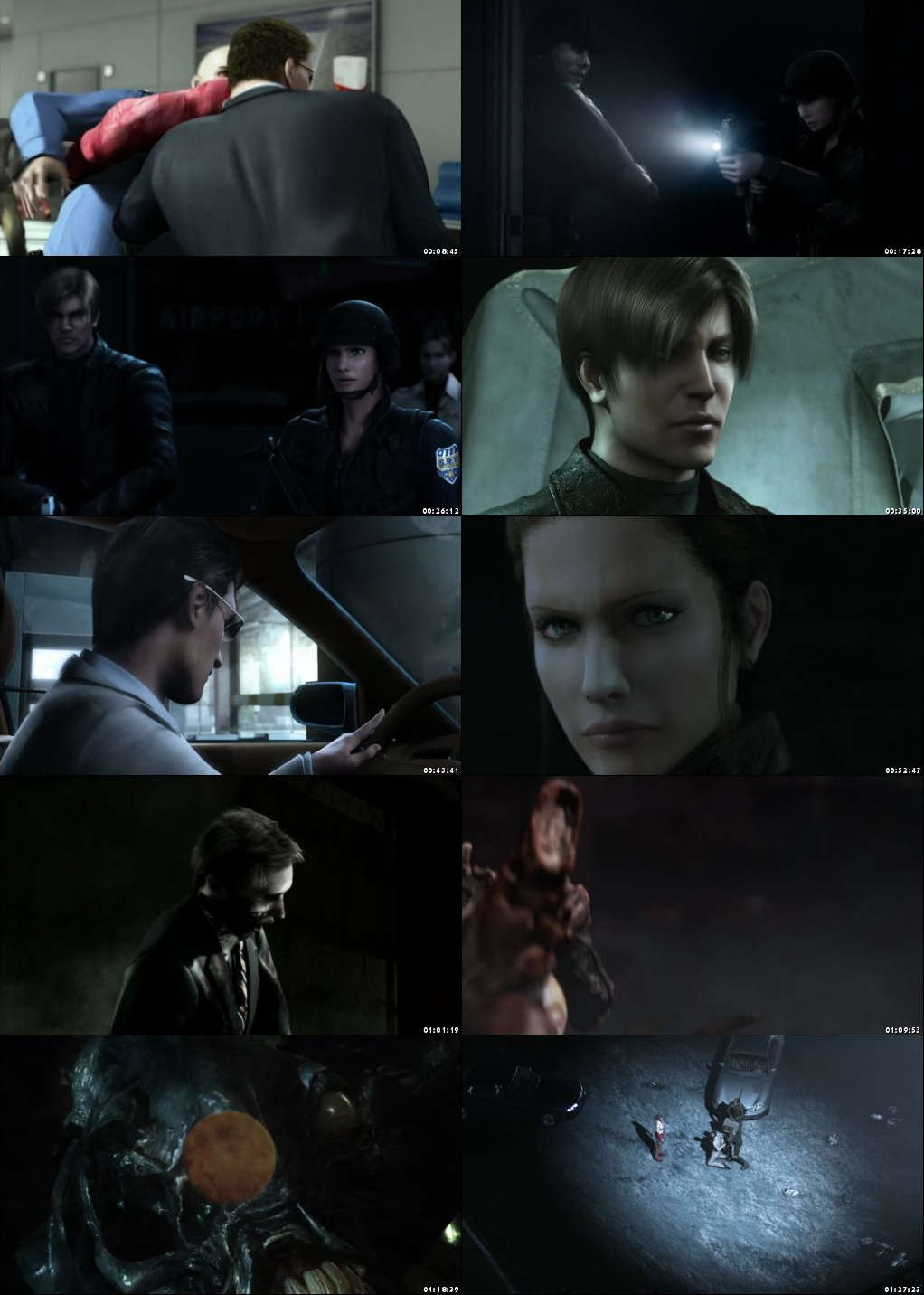 Resident Evil Degeneration 2008 Brrip Hindi Dual Audio 480p