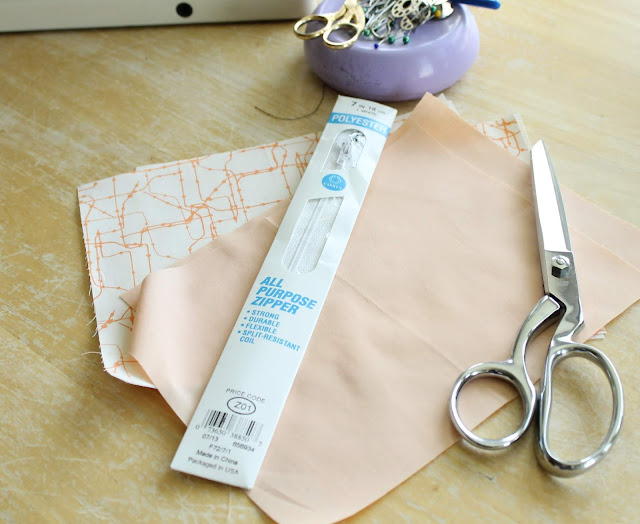 How to sew a zipper pouch for pencils, crayons, make-up and more.