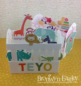 Ornate Baby Crib Card Tutorial