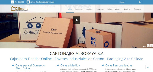 web Cartonajes Alboraya