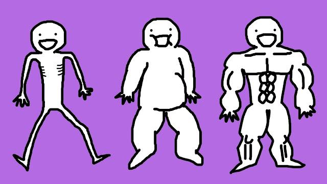 好痛痛 小醜人 瘦 胖 肥 壯 BMI 體脂肪 運動