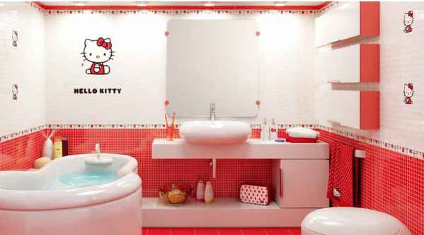 mesmerize hello kitty bathroom design home and garden ideas. Black Bedroom Furniture Sets. Home Design Ideas