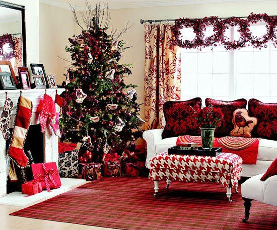 decoracion navidad hogar , decoracion sala minimalista navidad