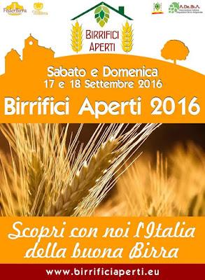 Birrifici Aperti 17 e 18 settembre tutta Italia 2016