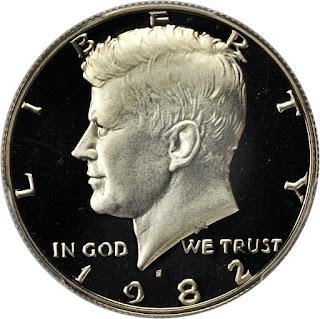 1982 Kennedy Half Dollar