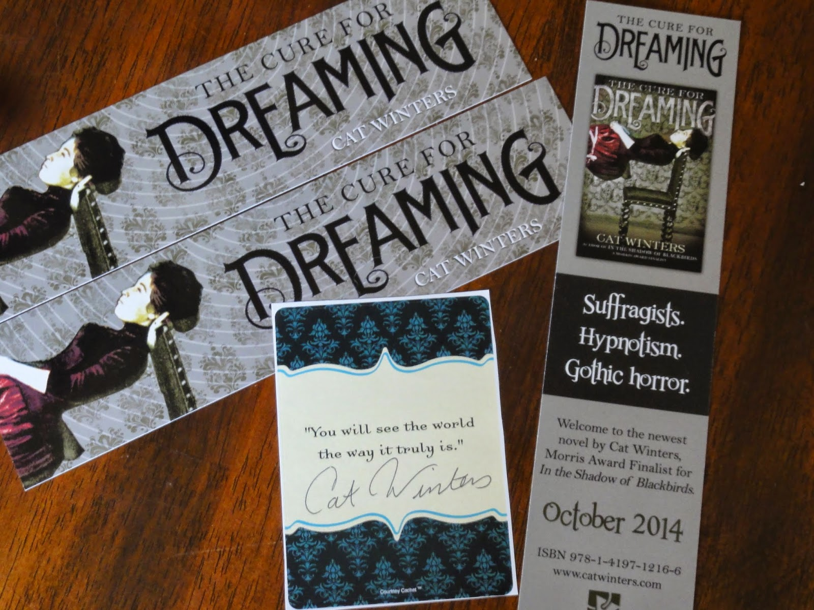 Cat Winters: THE CURE FOR DREAMING Swag Giveaway!