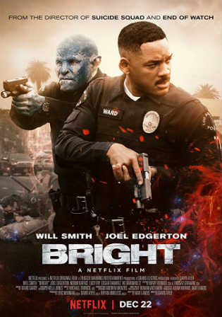 Bright 2017 WEBRip 350MB English 480p ESub Watch Online Full Movie Download bolly4u
