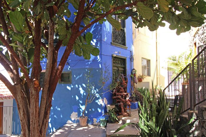Platz im Viertel La Calera, Valle Gran Rey