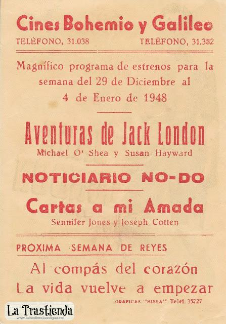 Aventuras de Jack London - Programa de Cine - Michael O'Shea - Susan Hayward
