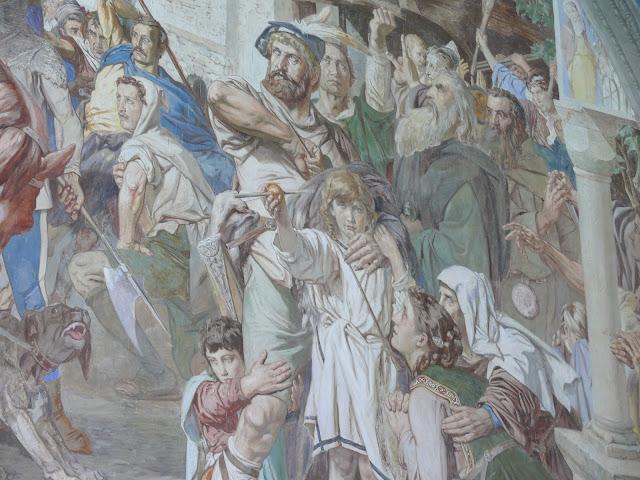 Ernst Stückelberg - Fresco del disparo contra la manzana - s. XIX