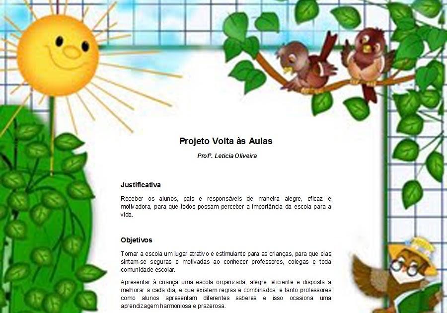 Projeto Volta As Aulas 01: Referências Para Educação Infantil: Projeto Volta às Aulas