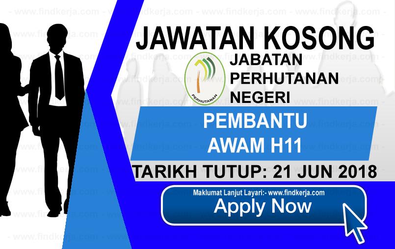 Jawatan Kerja Kosong Jabatan Perhutanan Negeri logo www.findkerja.com www.ohjob.info jun 2018