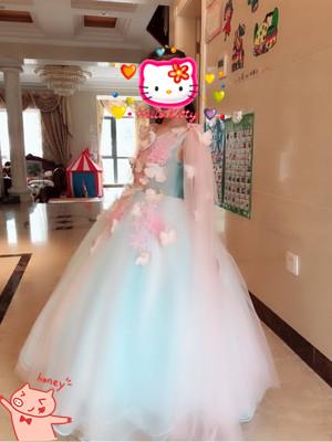 Green Children Wedding Flower Girl Dress