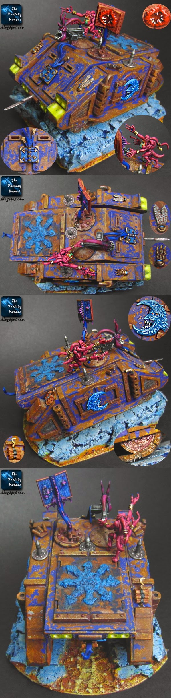 Chaos Space Marines Possessed Rhino of Tzeentch