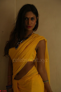 Nishigandha in Yellow backless Strapless Choli and Half Saree Spicy Pics 123.JPG
