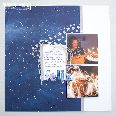 Twinkle Twinkle Designer Paper by Stampin' Up! - 12x12 Scrapbook / Memory page by Susan Wong