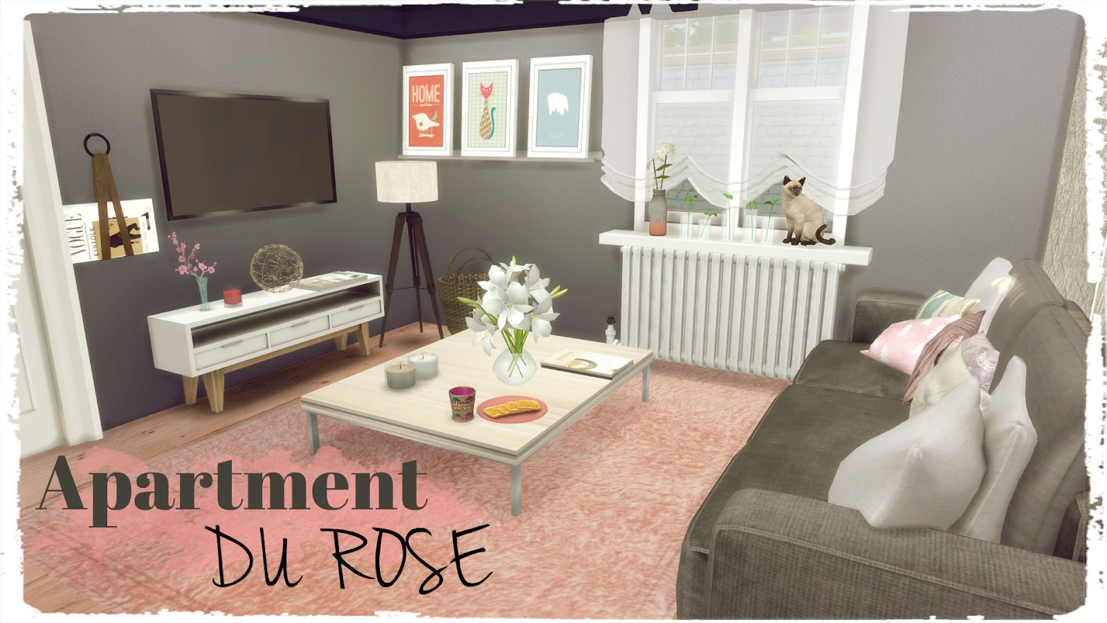 Sims 4 apartment du rose house mods for download dinha for Appartement design sims 3