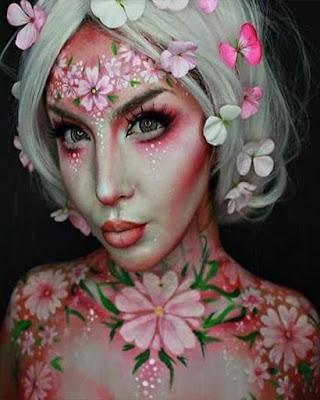 maquillaje de fantasia flores