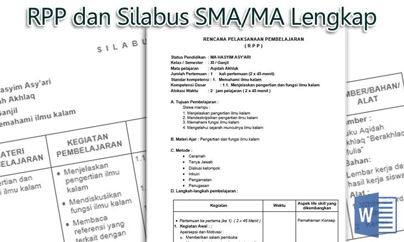 Download Contoh RPP dan Silabus SMA MA Lengkap