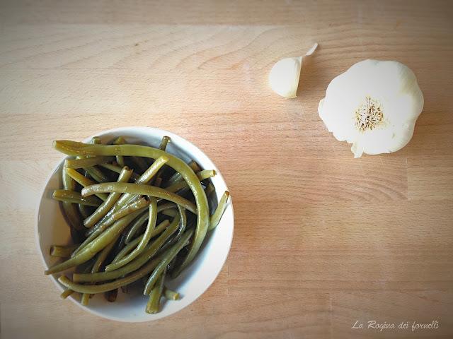 fagiolini, aglio e aceto
