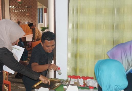 BNK Tes Urine Jajaran Hakim, Dan Pegawai PN. Selayar