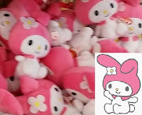 Hello Kitty friend bunny My Melody beanie babies Ty pink ears daisy flower cute DollarTree