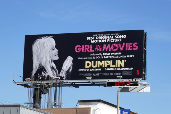 Dumplin Dolly Parton Girl in Movies song FYC billboard