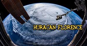 La Estación Espacial capto un video mientras volaba sobre el huracán Florence