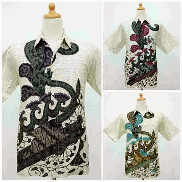 Kemeja Batik Pria Pola Cipir Daun