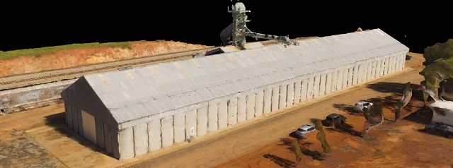 Drone Structure Scan Industrial Infrastructure Grain Receival - Image 3