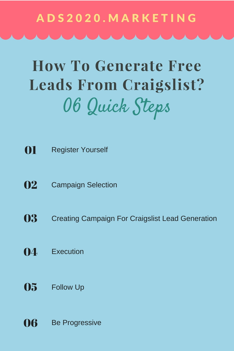 6 Step Guide for Generating Free Leads from Craigslist Site ~ Top Best Websites List. Free ...