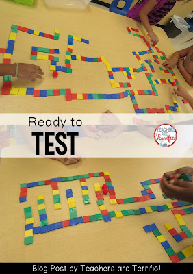 STEM Challenge: Can you get the pom-pom to travel through the maze? Check this blog post for more about these first grade STEM mazes!