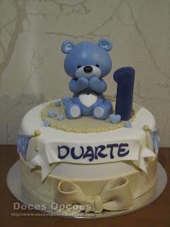 Um ursinho no 1º aniversário do Duarte