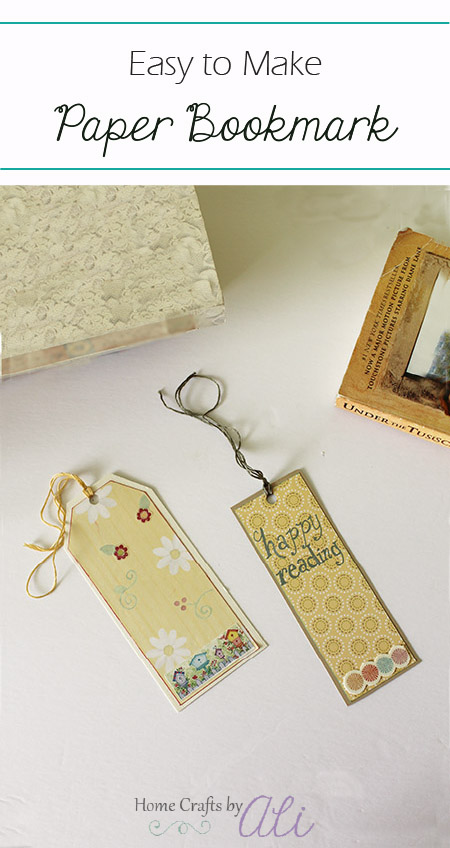 easy paper bookmark tutorial