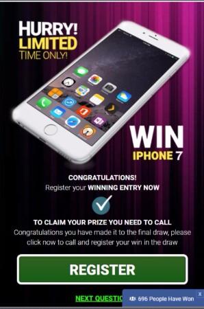 الحصول على اي فون الجديد 7!