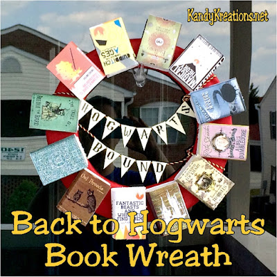 Go back to school with all your textbooks and necessities with this Hogwarts book wreath!  This wreath would be a great addition to any Harry Potter party as it's magically easy to put together and so much fun too.