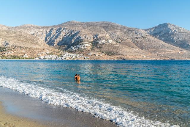 Plage de Levrossos-Amorgos-Cyclades
