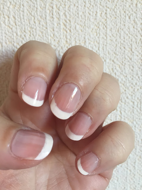 A French Manicure With Essence