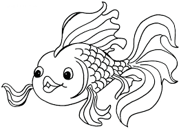 Adorable Goldfish Coloring Book For Kids Online