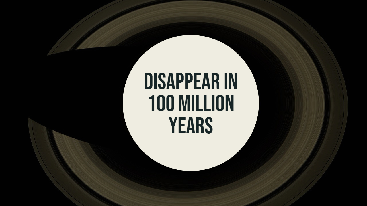 Measurements of material transition from Saturn's rings to the planet itself suggest that the rings are likely to disappear in 100 million years.