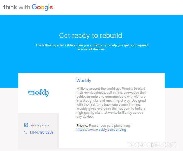 Google 出品:小型企業網站 Mobile Friendly 速度測試工具_503