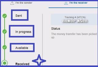 Laporan Status pengiriman uang western Union