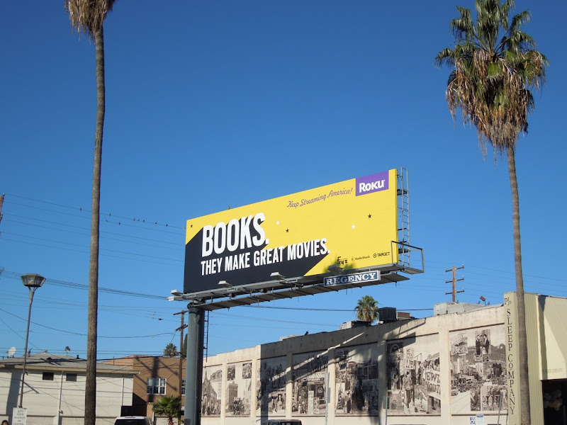 Books make great movies Roku billboard